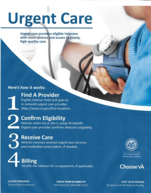 Urgent Care for Veterans Poster
